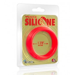 Wide Silicone Donut - Red - 1.88-Inch Diameter