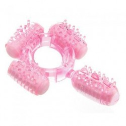 Humm Dinger Super Quad Vibrating Ring - Magenta