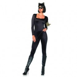 Spandex Catsuit - Black - Medium