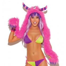 Furry Monster Hood - One Size