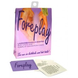Foreplay Suggestion Cards Bath Set - Lavender and Vanilla