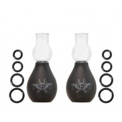 Fashionistas Glass Nipple Suckers - Black