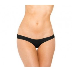 Scrunch Hip Half Back Bikini - Black - One Size