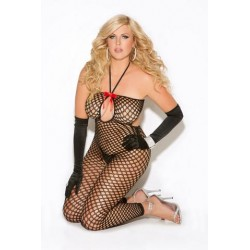 Crochet Bodystocking - Black - Queen Size