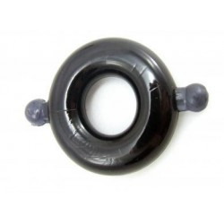 Elastomer Cock Ring Small Smoke/ Black