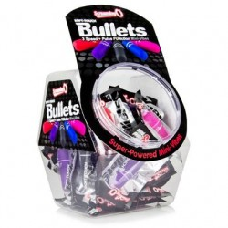 Soft Touch 3 + 1 Bullets - 40 Count Fishbowl - Assorted Colors