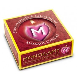 Monogamy Small Massage Candle - Intimate - Strawberry And Champagne