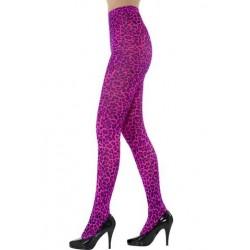 Leopard Print Tights - Pink