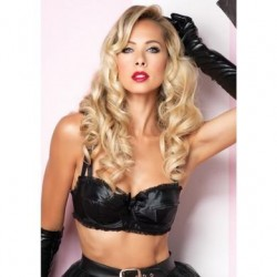 Satin Bullet Bra - Small