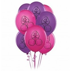 Pecker Balloons - Pink and Purple 8 Pieces