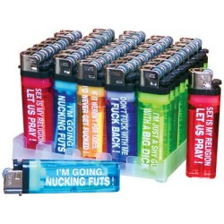 Assorted Humerous Lighters - Display of 50