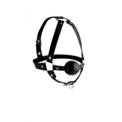 Head Harness + Ball Gag 1.65""