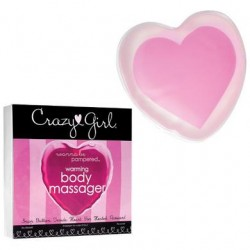Crazy Girl Wanna Be Pampered Warming Body Massager - Pink