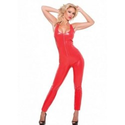 Second Skin Seductively Red Catsuit - Large - Extra Large