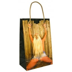 Girl Tied To Fence With Rope Novelty Gift Bag