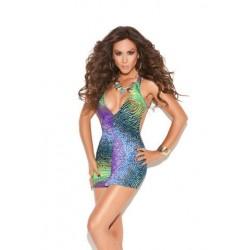 Deep V Mini Dress - One Size