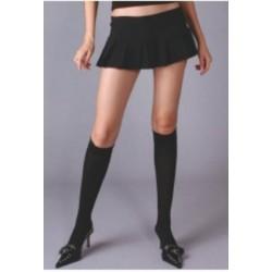 Black Opaque Knee High Stockings