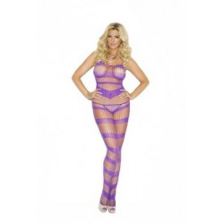 Strappy Bodystocking - Purple - Queen Size
