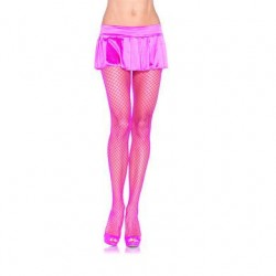 Industrial Net Pantyhose - Neon Pink - One Size