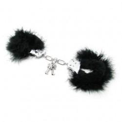 Fetish Fantasy Series Feather Love Cuffs - Black