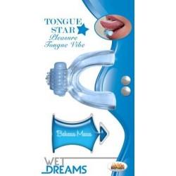 Tongue Star Tongue Vibe - Blue W/ 10 Ml Liquor Lube