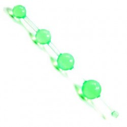 Jelly Thai Anal Beads - Green