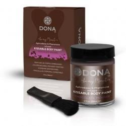 Dona Kissable Body Paint - Chocolate Mousse - 2 Oz.