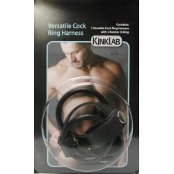 Versatile Cock Ring Harness - Rubber
