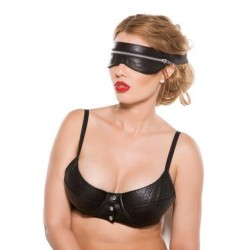 Faux Leather Zip Mask