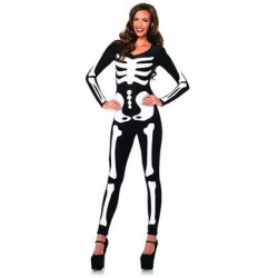 Glow-in-the-dark Skeleton Catsuit - Large