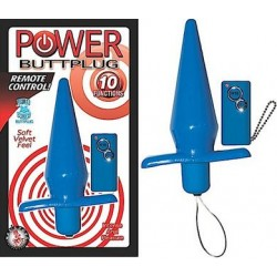 Power Buttplug Remote Control - Blue